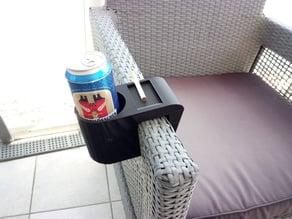 Beer Cigarettes Rattan Armchair Holder