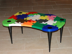 32-piece real-size Coffee Table
