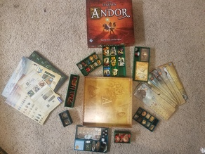 Legends of Andor game box organizer, includes expansion