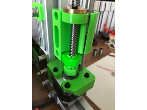 Haribo 3030 X-axis with belt tensioner and cutouts for couplers