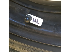 Car tire marker