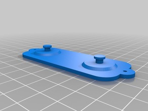 Clear Pi 3 case (Vilros) hanger with holes