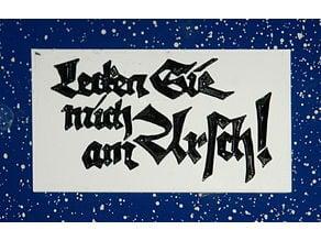 Rudolf Kochs Probedruck