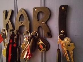 Letter wall hanger