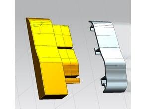 Terminale di copertura profilo alluminio porta pavimento calpestabile -