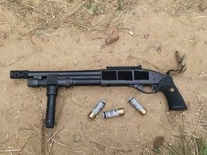 Minimalist rail handguard for TM M870 Breacher Shotgun