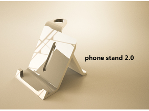 Phone Stand + Pen holder 2.0 (new version)