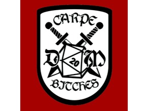 CARPE DM BITCHES, sign