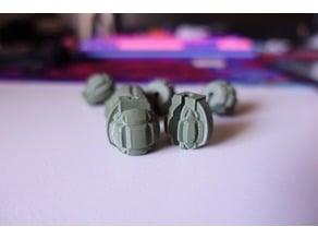 Grenade Spoke Bead