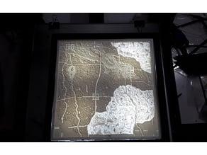 8 inch Lithophane Wall Mount Back-lit Frame