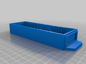 "Small Parts Organizer Bin (1"" x 2"" x 6"" outer box dimensions)"