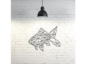 Fish wall sculpture 2D
