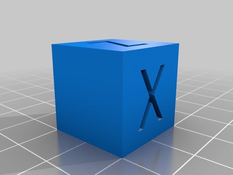 XYZ 20mm Calibration Cube by iDig3Dprinting - Thingiverse