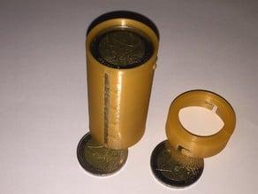 Münzbehälter für 25 Stück 2 Euro Münzen