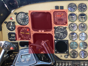 Simulator flight instrument  Beechcraft B200 FlightDeck