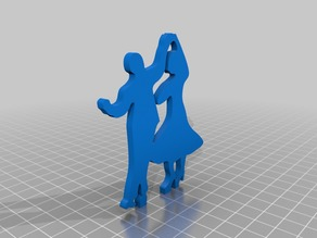 Dancing Silhouette Cake Topper