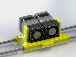 Dual Carriage for Qu-BD extruders