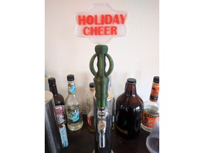 Holiday Cheer Interchangeable Tap Handle Topper