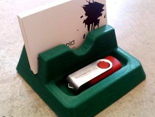 pad \ biz card -  desk holder