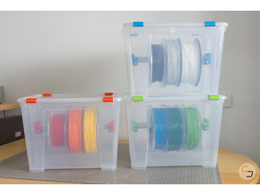 Low Friction Filament Dry Box (IKEA SAMLA)