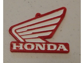 Honda Wing keychain or scale up for wall art