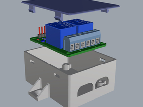 2 Ch Relay board mountable snap case