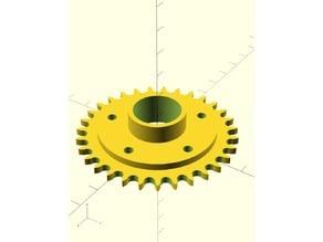 Sprocket Generator V2 - OpenSCAD