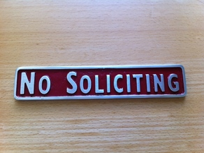 Cast pewter sign (from 3D printed part)