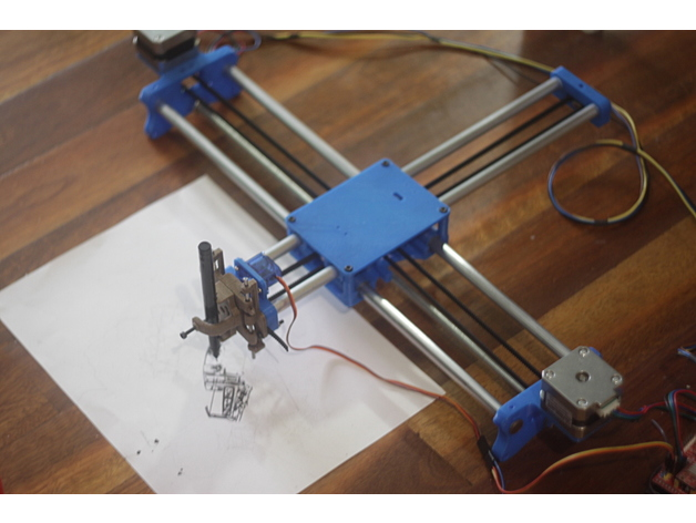 Drawing Robot - Remix by unclejeff - Thingiverse