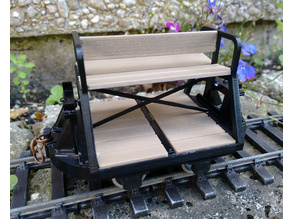 Open coach body for narrow gauge tipper wagon chassis