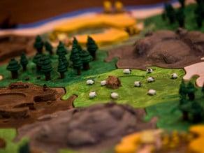 Catan Sheep Tiles - Warcraft Inspired