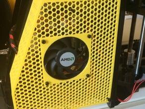 Honeycomb radiator grille (Geeetech Prusa I3 X)