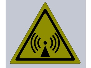 Non-ionizing radiation warning sign