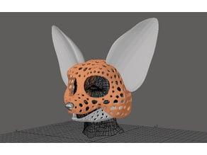 Fursuit- or puppet-head base - version 67 - Fennec