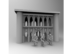 Gothic Imperial Building 28mm 02