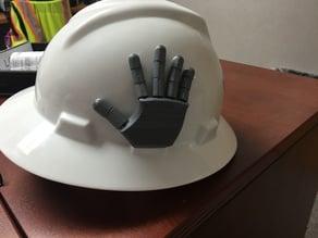 Articulated Hand Hard Hat Insert