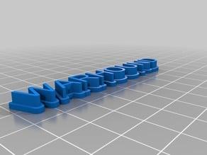 WARHOUND 3D name plate