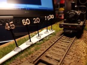 OO/HO BR/LNER Speed Restriction Signs