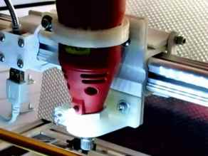 Fast-clamp mount, transfoms K8200/3Drag in CNC milling machine using Valex drill. update 03
