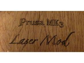 Prusa MK3 laser engraver / cutter mod