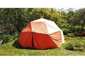 Hubs for geodesic tent 2V (PVC or polypropylene frame)