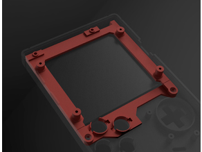 Gameboy Zero LCD Mounting Bracket