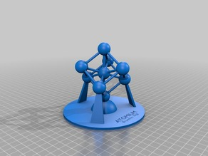 Atomium - 3D-printable model as stl and Freecad