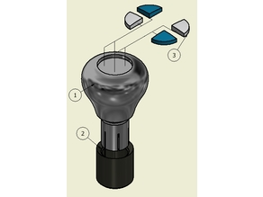 Manual Shift Knob for BMW vehicle