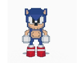 Pixelated Sonic from ( Sonic CD)
