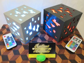 Minecraft Inspired Ore Cube LED Lamp, USB+Remote OR Batteries
