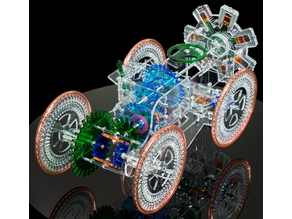 Radial Engine Car from MechanicalGIFs.com