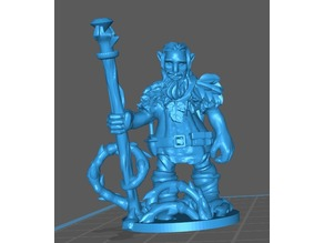 Firbolg druid miniature for Dungeons and Dragons