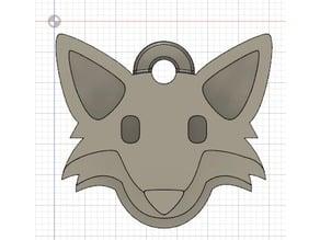 Emoji Fox Keychain