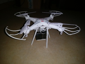 Syma X5C action camera support